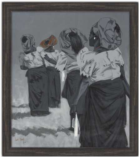 Authentic Nigerian Art - Nigerian Paintings - African Paintings - Queens Of Delight