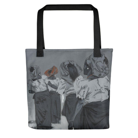 Authentic Nigerian Art - Nigerian Paintings - African Paintings - Queens Of Delight Tote Bag