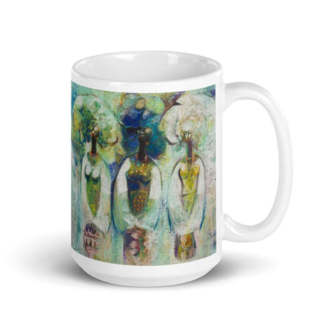 Authentic Nigerian Art - Nigerian Paintings - African Paintings - Sisters Mugs