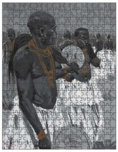 Authentic Nigerian Art - Nigerian Paintings - African Paintings - Sounds Of A Nation Puzzles