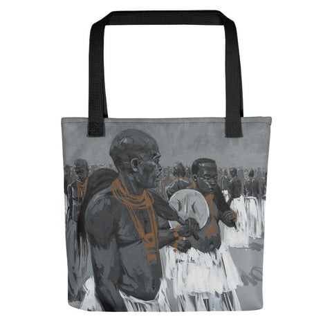 Authentic Nigerian Art - Nigerian Paintings - African Paintings - Sounds Of A Nation Tote Bag