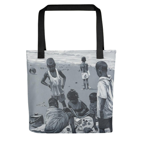 Authentic Nigerian Art - Nigerian Paintings - African Paintings - Summer Days Tote Bag
