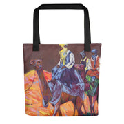 Authentic Nigerian Art - Nigerian Paintings - African Paintings - The Journey Tote Bag