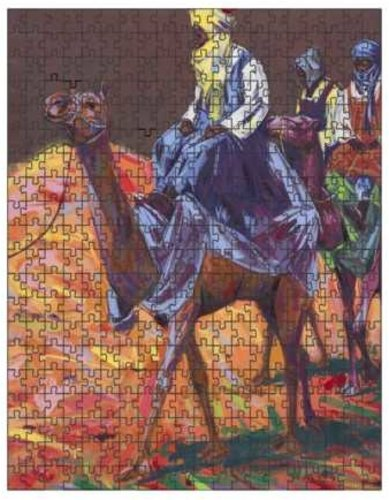 Authentic Nigerian Art - Nigerian Paintings - African Paintings - The Journey Puzzles