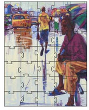 Authentic Nigerian Art - Nigerian Paintings - African Paintings - The Lonely Man Puzzles