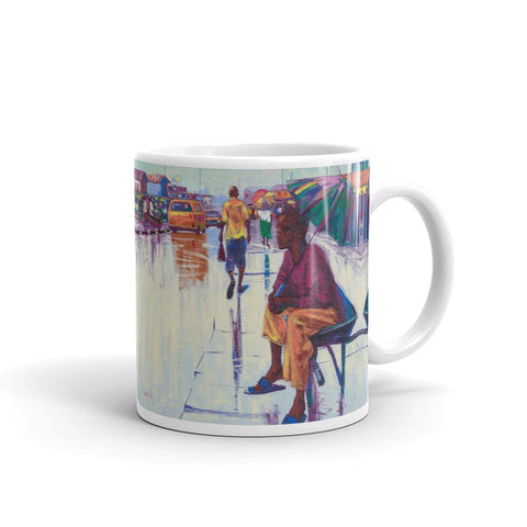 Authentic Nigerian Art - Nigerian Paintings - African Paintings - The Lonely Man Mugs