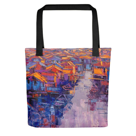 Authentic Nigerian Art - Nigerian Paintings - African Paintings - Village Of Dreams Tote Bag