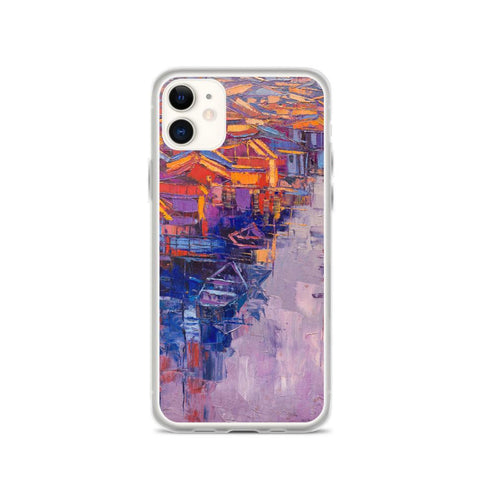 Authentic Nigerian Art - Nigerian Paintings - African Paintings - Village Of Dreams iPhone Case