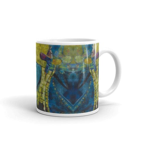 Authentic Nigerian Art - Nigerian Paintings - African Paintings - Weary Traveler Mugs