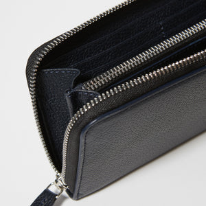 Large Full-Grain Leather Zip-Around Wallet