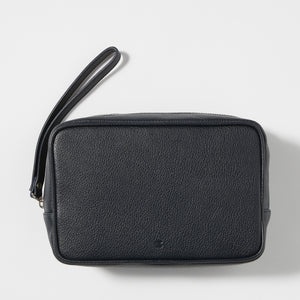 Full-Grain Leather Toiletry Bag