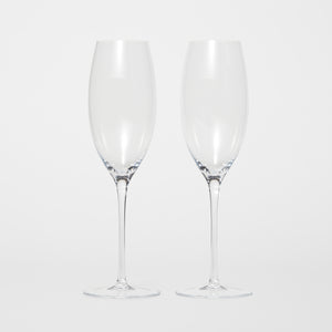 Mouth Blown Champagne Glass 2-P