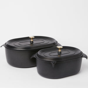 6L Hand Cast Aluminium Pot With Lid