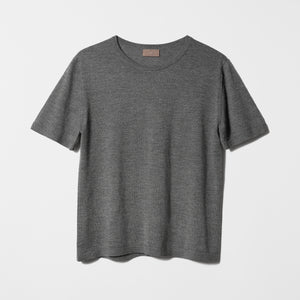 Womens Round Neck Ultralight Cashmere T-shirt