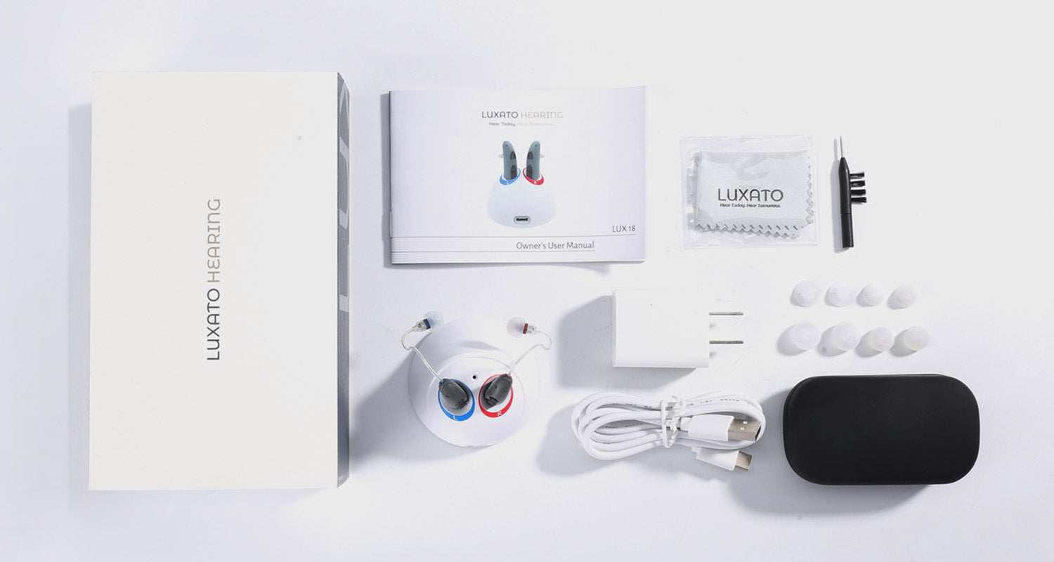 LUX AUTO PRO Luxato chargeable Hearing Aids and Accessories products all affordable price for first try users and experienced users