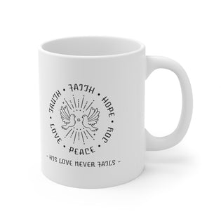 A Mug of Faith: Faith Hope and Love | Ceramic Mug 11oz