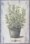 Hand Finished Rosemary Wall Art 300x200x30mm