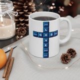 A Mug of Faith: Love God (Computer Keys Theme) | Ceramic Mug 11oz