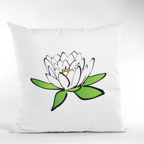 Floral Pillow Case | Spun Polyester Square Pillow Case