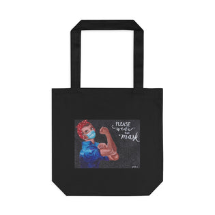 Art for the Homeless by MxA Canvas Bag: Wear a Mask | Novelty Bag | Keepsake Bag | Bag for a Cause | Cotton Tote Bag