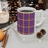 Pattern Mug: Plaid | Decorative Mug | Mix and Match Mug | Novelty Mug | Ceramic Mug 11oz