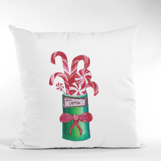 Art for the Homeless by MxA Canvas Pillow Case: From Santa | Spun Polyester Square Pillow Case