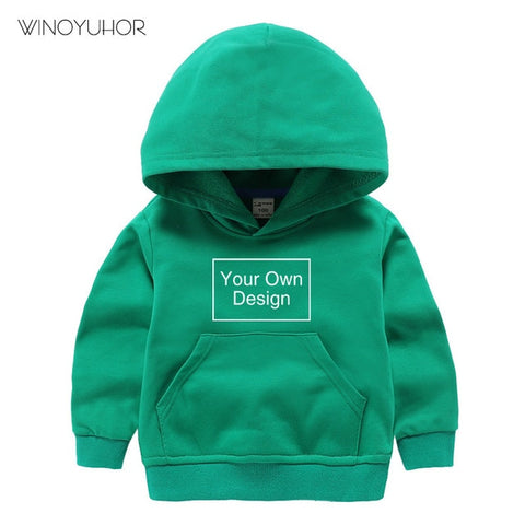Customised Kids' Hoodies | Add Your Own Text Logo or Design