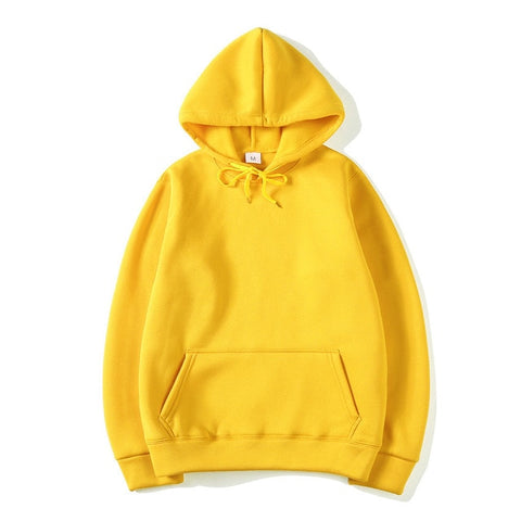 Unisex Solid-Coloured Pullover Hoodie