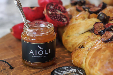 Aioli - Easter bread with Apricot Almond Jam