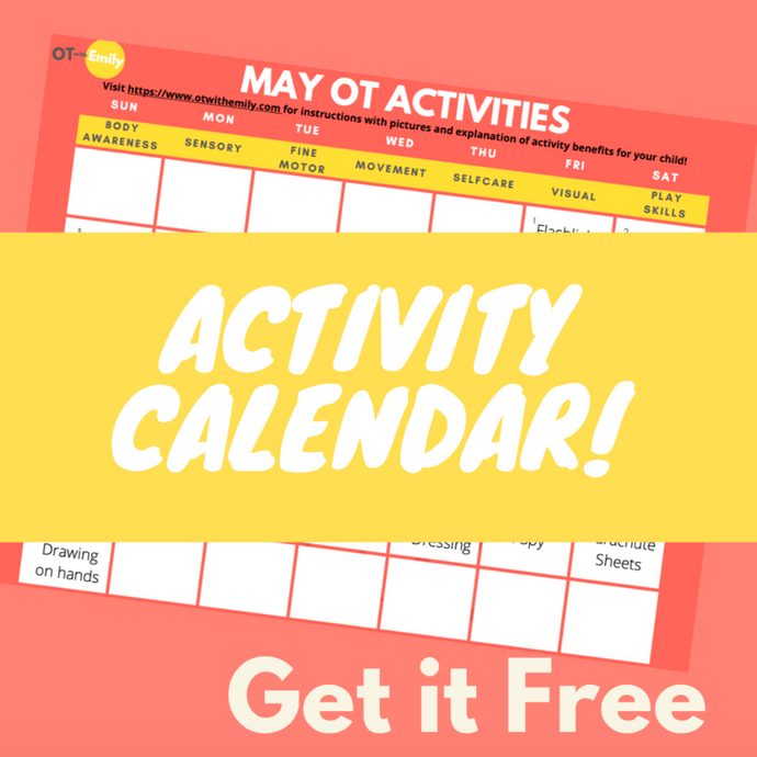 May Occupational Therapy Activity Calendar