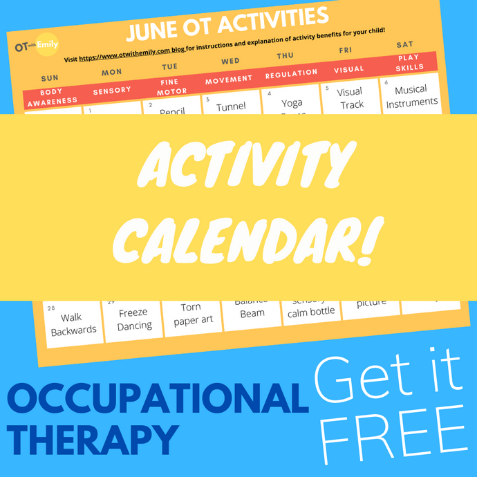 June Occupational Therapy Activity Calendar