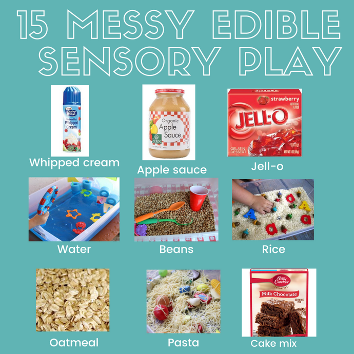 15 Messy Edible Sensory Play Ideas for Baby & Toddlers