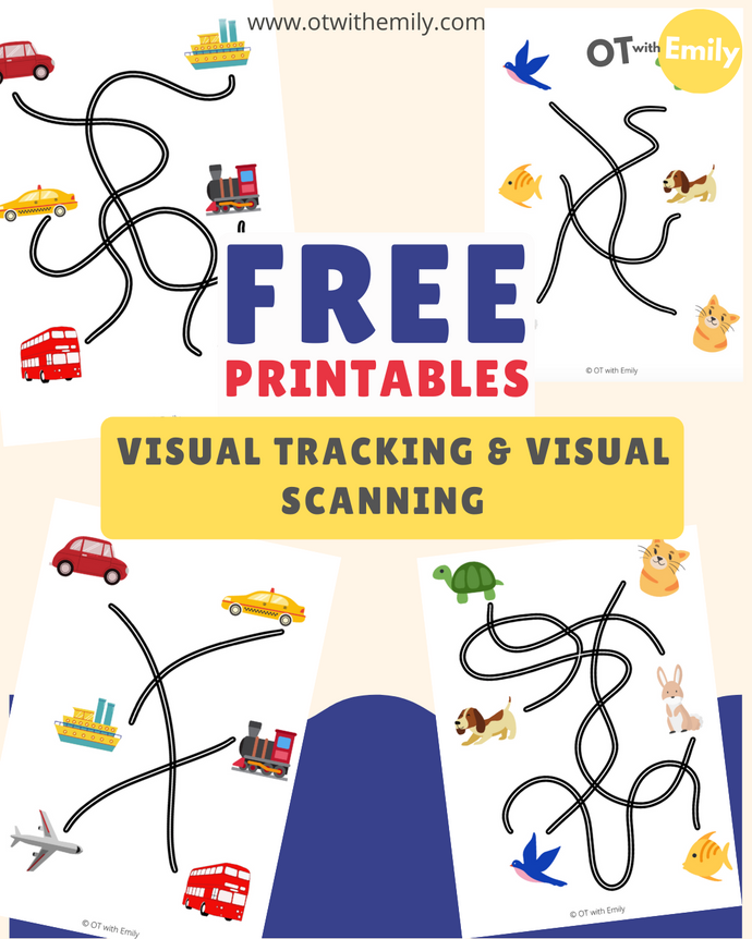 Visual Scanning & Tracking Worksheets