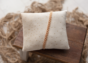 CHRISTMAS GOLDEN PILLOW AND TIEBACK