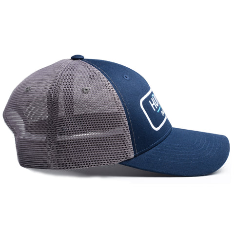 Unisex Low Profile Mesh Hat Snapback - Navy