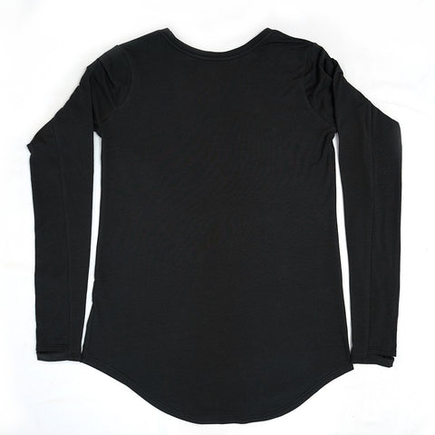 Women's Long Sleeve Active Shirt - The Black Moon