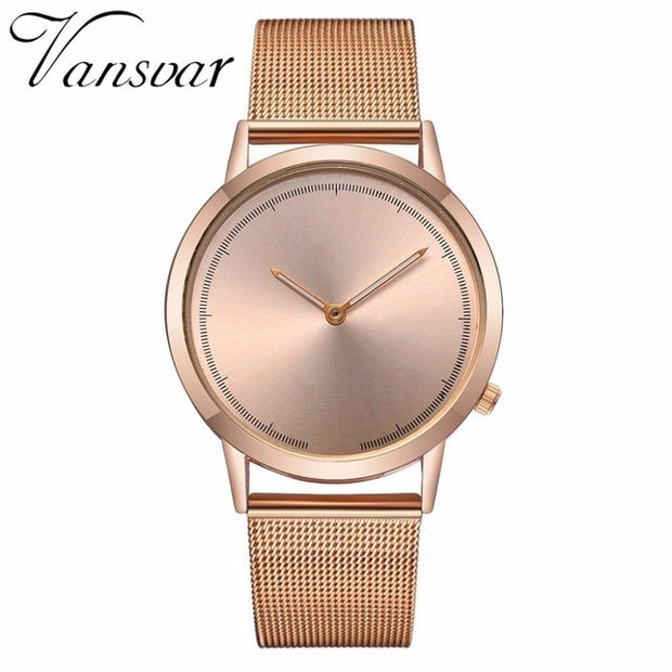Classic Fashion Stainless Steel Quartz Watch