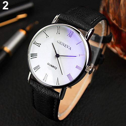 GENEVA Analog Faux Leather Business Watch