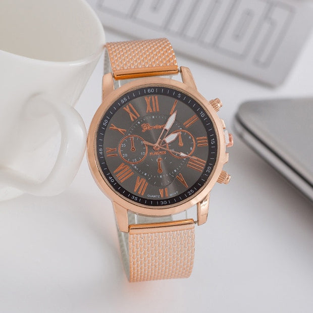 GENEVA Casual Silicone Strap Quartz Watch