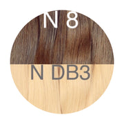 Hair Wefts Hand tied Color _8/DB3 GVA hair_Gold line - GVA hair