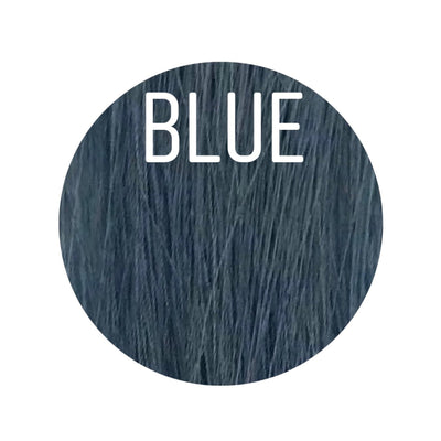 Bangs Color BLUE GVA hair_Gold Line - GVA hair