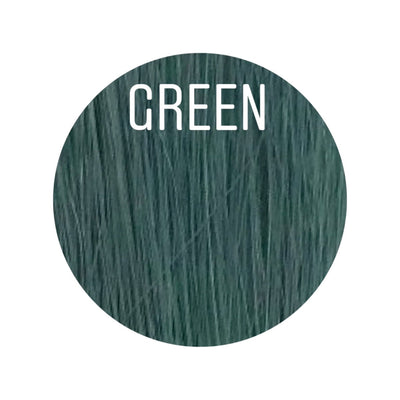 Raw Cut Hair Color GREEN GVA hair_Gold line - GVA hair