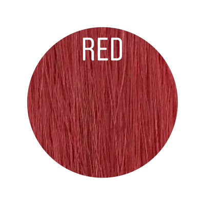 Bangs Color RED GVA hair_Gold Line - GVA hair