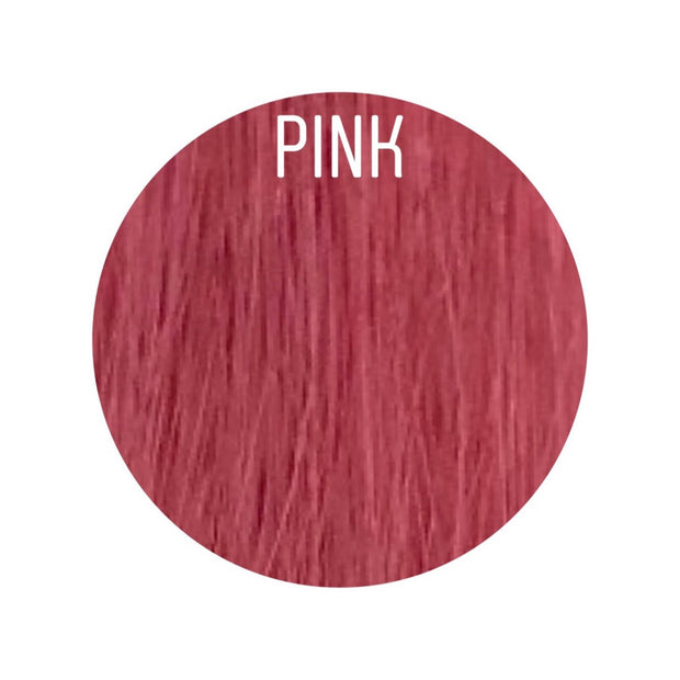 Hair Wefts Hand tied Color PINK GVA hair_Gold line - GVA hair