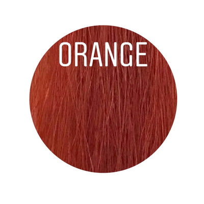 Bangs Color ORANGE GVA hair_Gold Line - GVA hair