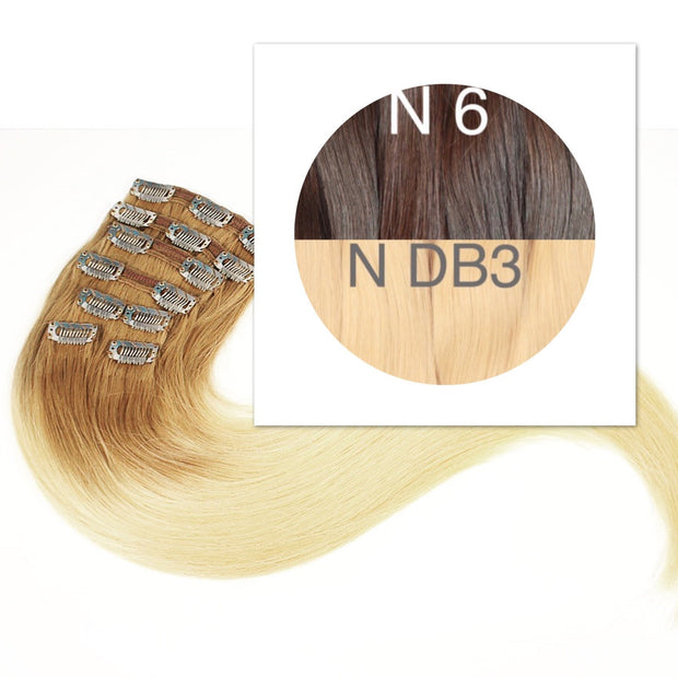 Clips and Ponytail Ambre 6 and DB3 Color GVA hair - GVA hair