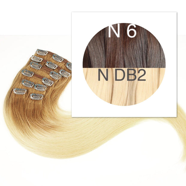 Clips and Ponytail Ambre 6 and DB2 Color GVA hair - GVA hair