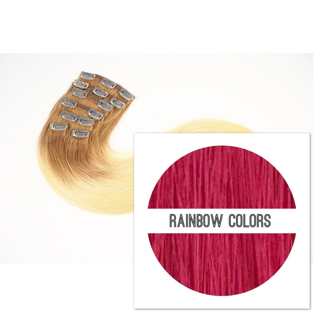 Clips 7 part Colors RAINBOW COLORS_Retail price - GVA hair