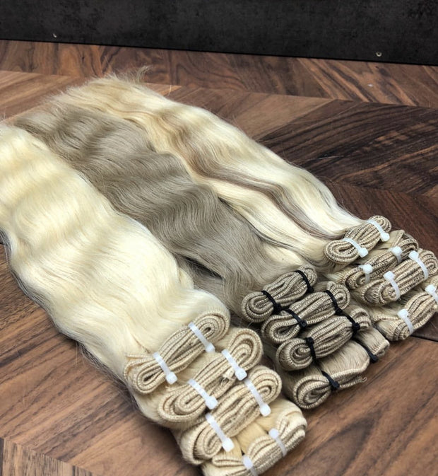 Machine Wefts Color 2Q GVA hair_Silver Line - GVA hair