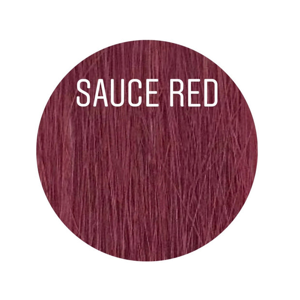 Micro links Color SAUCE RED GVA hair_Gold Line - GVA hair